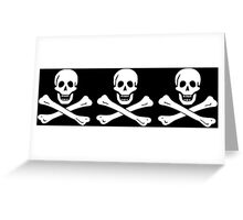 Chris Condent Pirate Flag Greeting Card