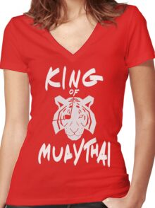 Sagat King of Muay Thai Re-Work Women's Fitted V-Neck T-Shirt