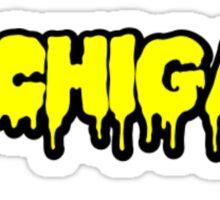 Michigan Drip Text Sticker