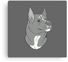 Pit Bull Pride - Blue Pointed Canvas Print