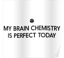 My brain chemistry is perfect today Poster