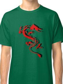 3D Double Dragon Silhouette Classic T-Shirt