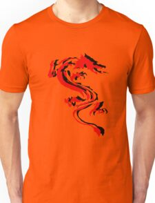 3D Double Dragon Silhouette Unisex T-Shirt