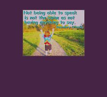 Not Being Able to Speak - rainbow tie-dye T-Shirt