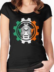Becky Lynch Irish Flag Logo Design Women's Fitted Scoop T-Shirt