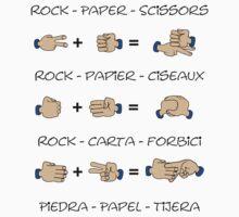 Stone, Paper & Scissors One Piece - Short Sleeve