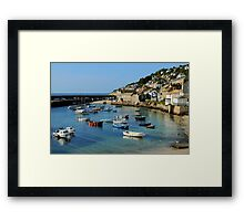 A Peaceful Moment at Mousehole, Cornwall Framed Print