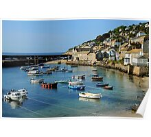 A Peaceful Moment at Mousehole, Cornwall Poster