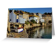 Early Morning at Mousehole, Cornwall Greeting Card