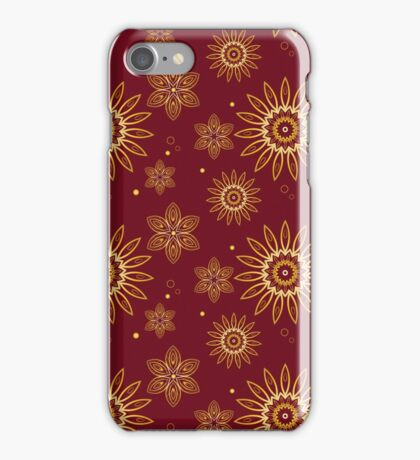 Abstract floral pattern. Perfect for printing on fabric or paper. iPhone Case/Skin