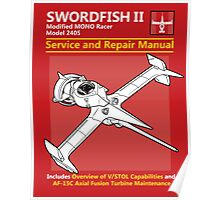 Swordfish Service and Repair Manual Poster