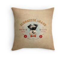 Schnauzer Brand Cigars Throw Pillow