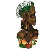 Groot's Babysitting Services Photographic Print