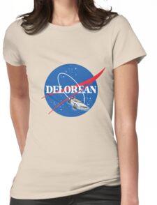Delorean Nasa Womens Fitted T-Shirt