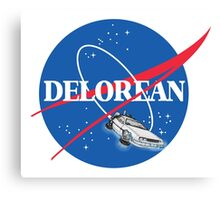 Delorean Nasa Canvas Print