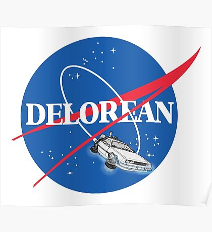 Delorean Nasa Poster