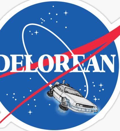 Delorean Nasa Sticker