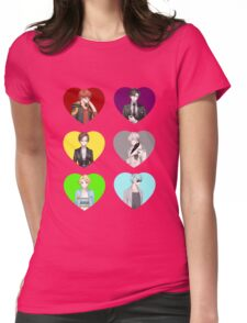 Mystic Messenger Hearts Womens Fitted T-Shirt