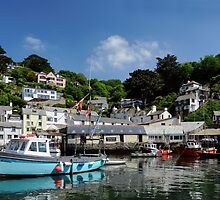 Polperro, Cornwall, from Sea Level by rodsfotos
