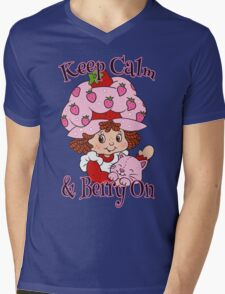 Keep Calm and Berry On Mens V-Neck T-Shirt