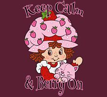 Keep Calm and Berry On Womens T-Shirt