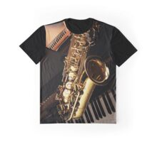 Jazz Instrument - Saxophone Graphic T-Shirt