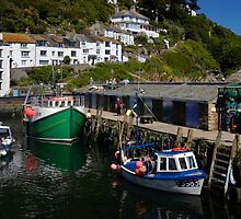 Harbour Wall, Polperro, Cornwall by rodsfotos