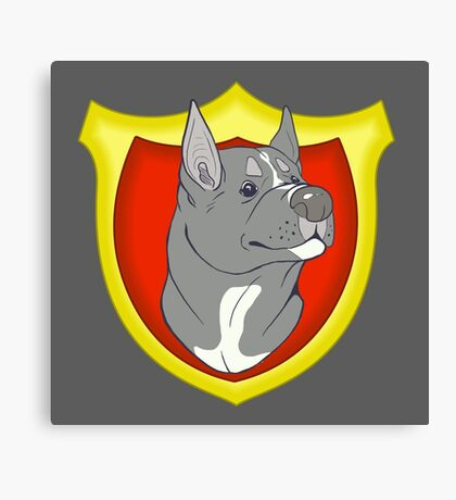Pit Bull Pride - Blue Point with Crest Canvas Print