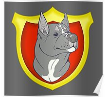Pit Bull Pride - Blue Point with Crest Poster