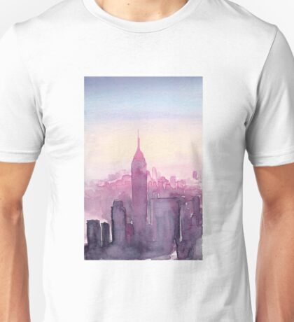 A Pink Sunset in New York Unisex T-Shirt