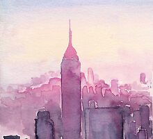 A Pink Sunset in New York by Eleni Fall into London