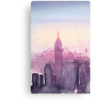 A Pink Sunset in New York Canvas Print