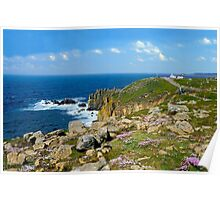Lands End, Cornwall in May Poster