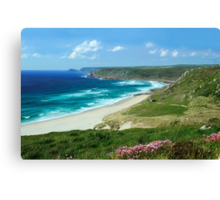 Whitesand Bay, Cornwall Canvas Print