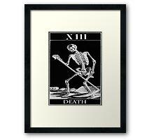 The death card Framed Print