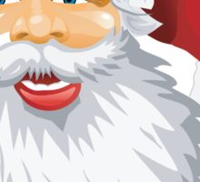 Cute Santa Claus Wishing Merry Christmas Sticker