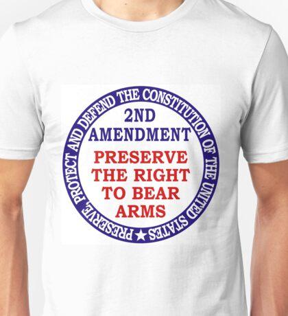 2nd Amendment logo Unisex T-Shirt