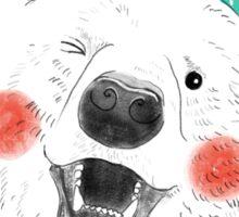 Rosy Cheeks Polar Bear in Snow Sticker