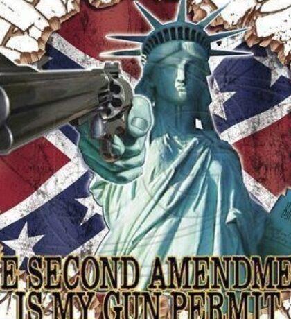 Statue of Liberty 2nd Amendmentx Sticker