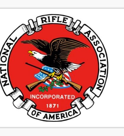 NRA logo red Sticker