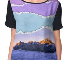 Mountain layers Chiffon Top