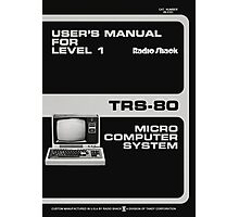 Radioshack TRS-80 Manual Recreation - Spiral Notebook Photographic Print
