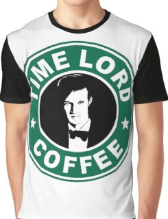 Time Lord Coffee Graphic T-Shirt