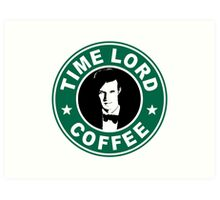 Time Lord Coffee Art Print