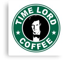 Time Lord Coffee Canvas Print