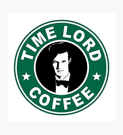 Time Lord Coffee Photographic Print