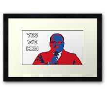 Ken Bone Yes We Ken Framed Print