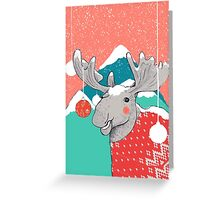Christmoose, Winter Moose Greeting Card