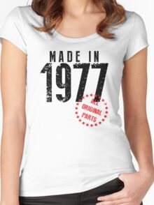 Made In 1977, All Original Parts Women's Fitted Scoop T-Shirt