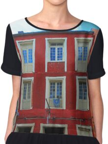 New Orleans Architecture Chiffon Top